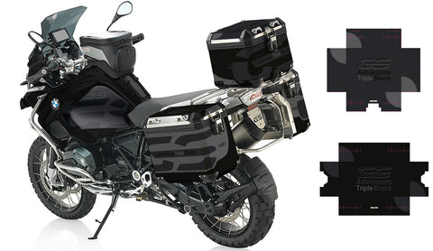 GSA Triple Black Pannier Stickers
