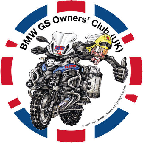 BMW GS Owners' Club Round Sticker 100mm Dia