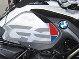 R1250 Style GSA Cut Out Tank Decals: Rallye, Ice Grey & Kalamata versions