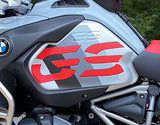 R1250GSA Ice Grey, Cut Out GS, Stripe Tank Decals (Ice Grey, Black and Red)