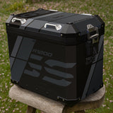 BMW R1200 GSA Triple Black Stripes Panniers & Top Box