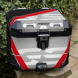 BMW R1200 GSA Red, Black & Grey Stripes Panniers & Top Box