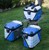 R1200 GSA Blue Rallye Pannier Decals - Outlines & Stripes