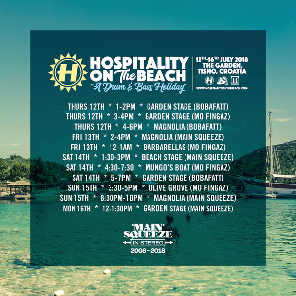 Hospitality On The Beach | SET TIMES – Main Squeeze