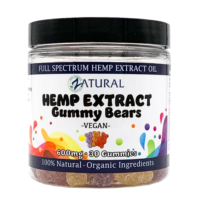 Hemp Extract Gummy Bears - Vegan, Organic, Full Spectrum* (20mg per Gummy)