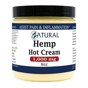 Zatural.com 8oz 1000mg Hemp Extract Hot Cream