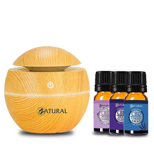 Zatural.com Aromatherapy Stress Away / Deep Sleep / Lavender Essential Oil Sets W/ Diffuser | Z Essentials