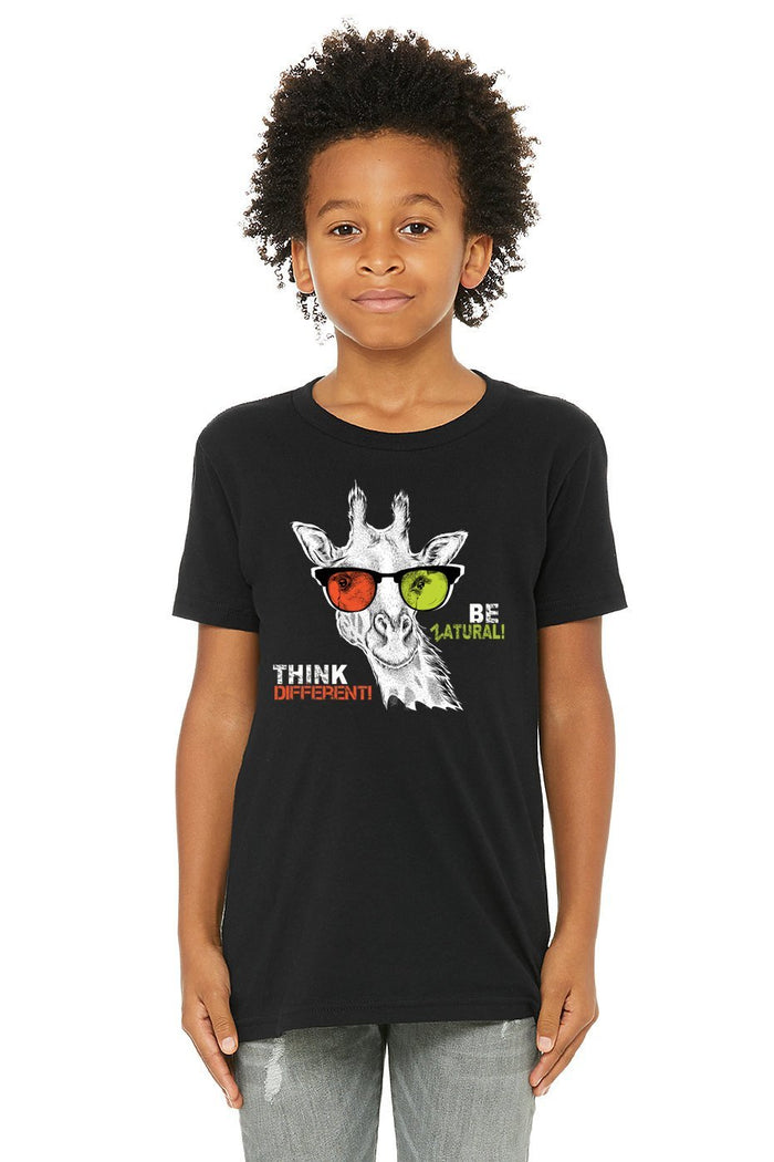 Hemp T Shirt - Kids Graphic - Think Different! Be Zatural!