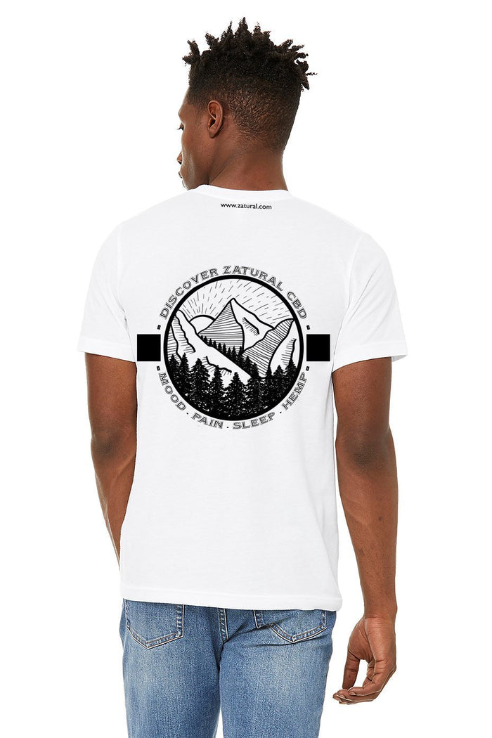 'Discover Zatural' Unisex Mountain Graphic