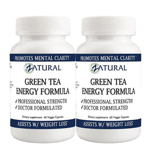 Zatural.com Health and Wellness 2 Bottles Green Tea Capsules