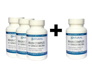 Zatural.com Health and Wellness Buy 3 Get One FREE Ginkgo Biloba Brain Supplement - 60 Capsules