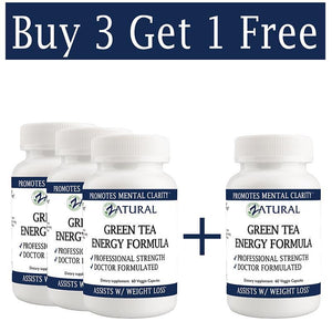 Zatural.com Health and Wellness Buy 3 Get One FREE! Green Tea Capsules