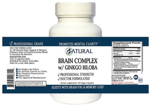 Zatural.com Health and Wellness Ginkgo Biloba Brain Supplement - 60 Capsules