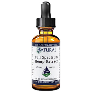 Zatural.com Health and Wellness Natural / 1 Ounce 300mg (10mg/serving) Full Spectrum Hemp Extract Drops