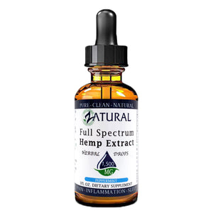 Zatural.com Health and Wellness Peppermint / 1 Ounce 1,500mg 5X Strength (50mg/Serving) Full Spectrum Hemp Extract Drops