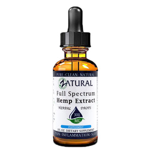 Zatural.com Health and Wellness Peppermint / 1 Ounce 300mg (10mg/serving) Full Spectrum Hemp Extract Drops