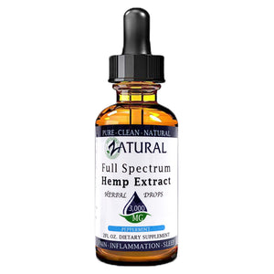 Zatural.com Health and Wellness Peppermint / 2 Ounce 3,000mg 5X Strength (50mg/Serving) Full Spectrum Hemp Extract Drops