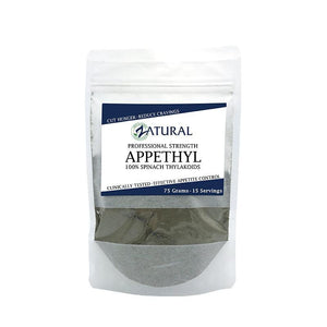 Zatural.com Health and Wellness Plain / 15 Day 75 Gram Pouch Appethyl Spinach Extract