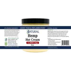 Zatural.com Hemp Extract Hot Cream