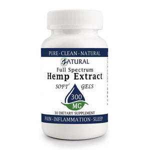 Zatural.com Multi-Purpose 30 count Hemp Extract 10mg (300mg total) Hemp Extract Full Spectrum SoftGels