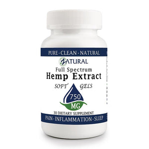 Zatural.com Multi-Purpose 30 count Hemp Extract 25mg (750mg total) Hemp Extract Full Spectrum SoftGels