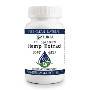 Zatural.com Multi-Purpose 60 count Hemp Extract 10mg (600mg total) Hemp Extract Full Spectrum SoftGels
