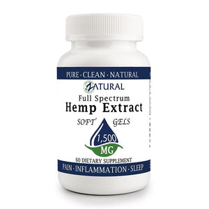 Zatural.com Multi-Purpose 60 count Hemp Extract 25mg (1500mg total) Hemp Extract Full Spectrum SoftGels