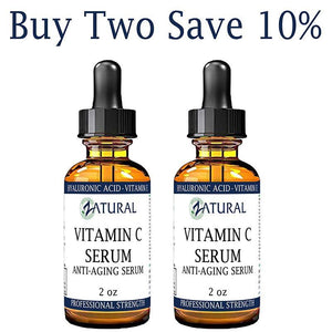Zatural.com Therapeutic Oil 2 Pack 2 oz Organic Vitamin C Serum Anti-Aging Serum