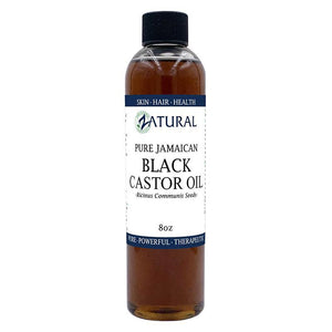 Zatural.com Therapeutic Oil 8oz Black Castor Oil - 100% Pure Tropic Jamaican