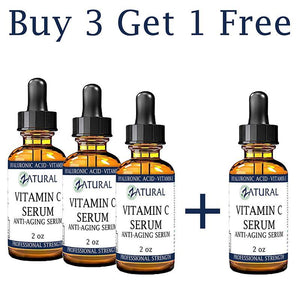 Zatural.com Therapeutic Oil Buy 3 Get 1 Free 2 oz Organic Vitamin C Serum Anti-Aging Serum