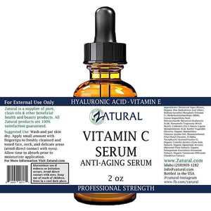 Zatural.com Therapeutic Oil Organic Vitamin C Serum Anti-Aging Serum