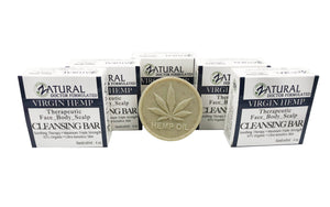 Zatural.com Therapeutic Skin Care 5 Pack Organic Soap w/ Hemp Seed Oil
