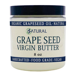 Zatural.com Therapeutic Skin Care 8 oz Grape Seed Butter -  Organic