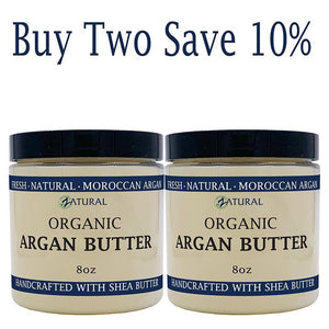 Zatural.com Therapeutic Skin Care Buy 2 SAVE 10% Argan Butter - Organic Virgin