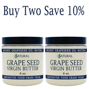 Zatural.com Therapeutic Skin Care Buy 2 SAVE 10% Grape Seed Butter -  Organic