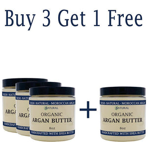 Zatural.com Therapeutic Skin Care Buy 3 Get 1 FREE Argan Butter - Organic Virgin