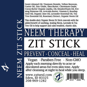 Zatural.com Therapeutic Skin Care Organic Clarifying Neem Kit + FREE ZIT STICK