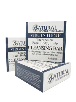 Zatural.com Therapeutic Skin Care Organic Soap w/ Hemp Seed Oil