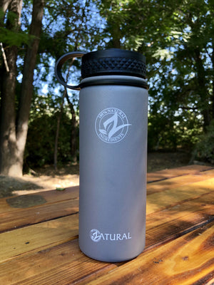 Zatural.com Water Bottle - Vacuum Sealed Stainless Insulated