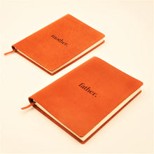 Set of A5 Mother's & Father's Day Leather Journals ( 2017 Limited Edition )