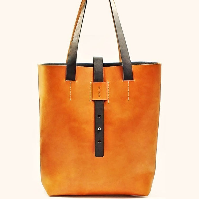 HERITAGE A4-P Leather Tote Bag