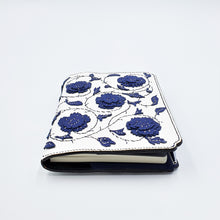 Studio Arkademie MING TEN PEONIES A6 Portrait Notebook Sleeve, Blue & White