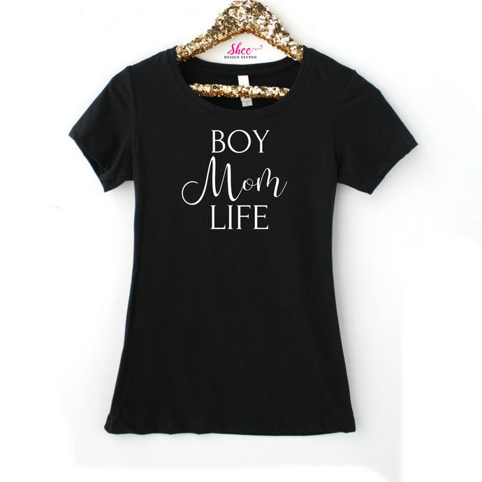 Boy Mom Life tee - Shee Design Studio