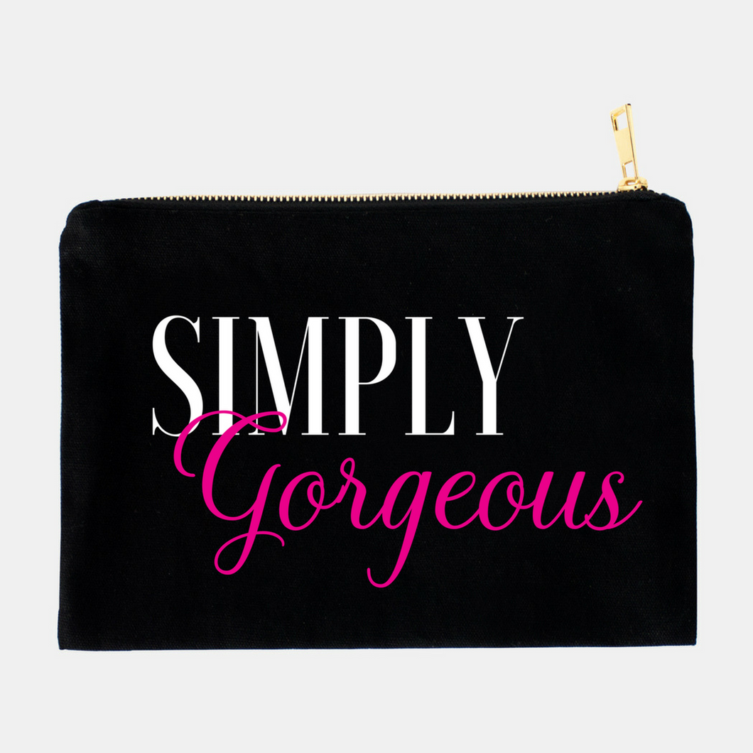 Simply Gorgeous Cosmetic bag (Black) - Shee Design Studio