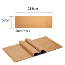 Load image into Gallery viewer, Natural Cork TPE Body Line Mat