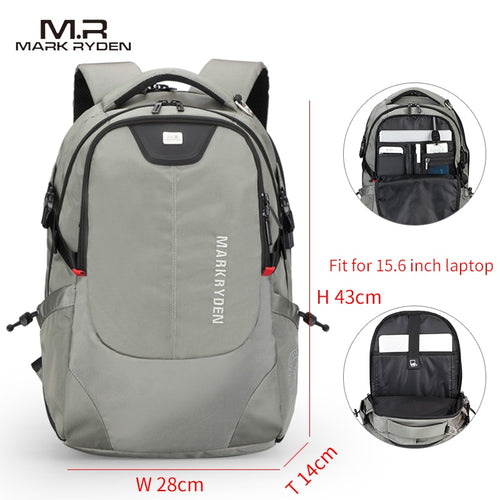 USB Charging 15inch Laptop Backpacks