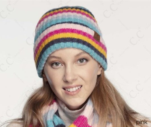 CC Multi Color Ribbed Beanie