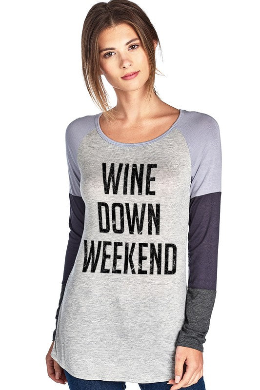 Wine Down Color Block