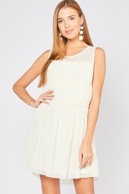 Solid Tiered Scoop Dress