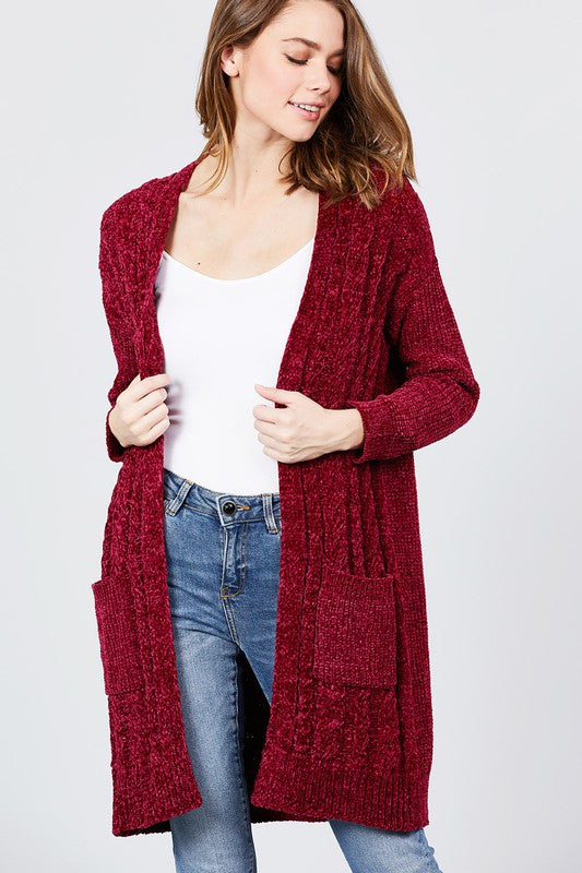 Chenille Cardigan Sweater